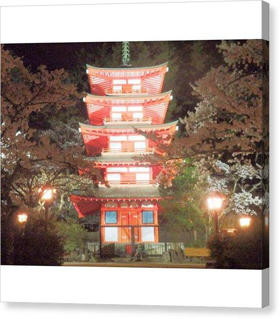 Fairies Canvas Print - Tower Towering At Night by Kanna Fairy