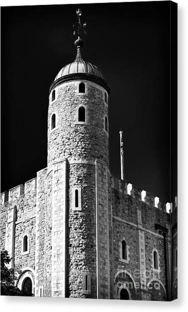 Tower Of London Canvas Print - Tower Windows by John Rizzuto