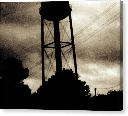 Tower With Intersecting Lines II Canvas Print by Stephen Hawks