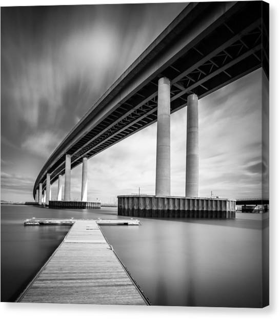 Canvas Print featuring the photograph Towering Bridge by Gary Gillette