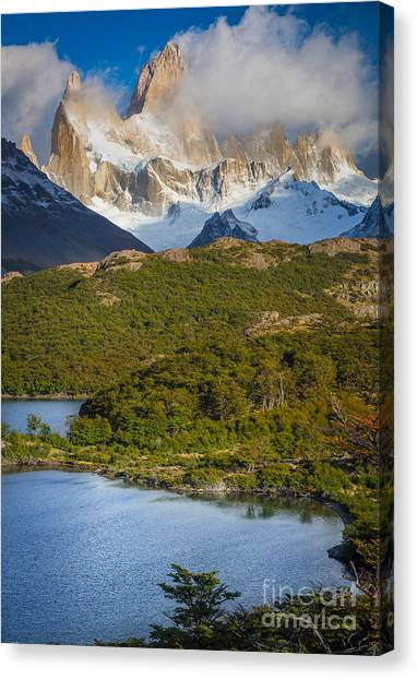 Andes Mountains Canvas Print - Towering Giant by Inge Johnsson