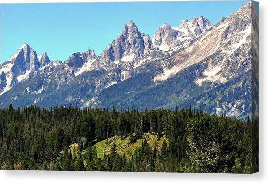Towering Teton Range  Canvas Print