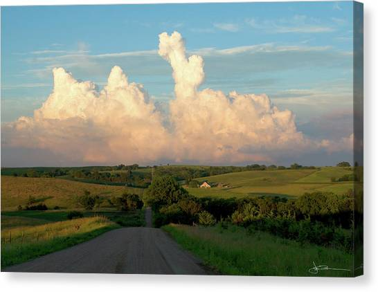 Towering Trouble Canvas Print
