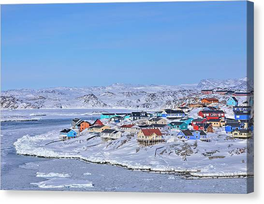 Greenland Canvas Print - town of Ilulissat - Greenland by Joana Kruse