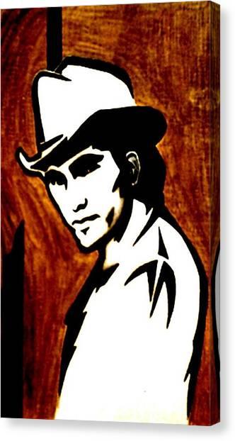 Townes Van Zandt Canvas Print