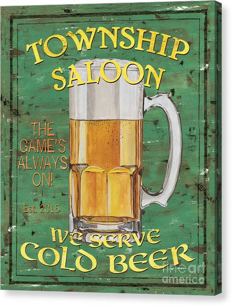 Pub Canvas Print - Township Saloon by Debbie DeWitt