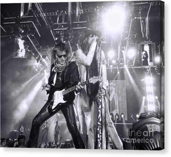 Steven Tyler Canvas Print - Toxic Twins by Traci Cottingham