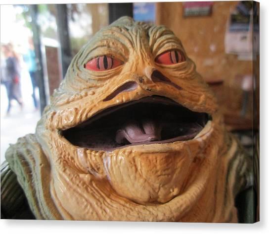 Jabba The Hutt Canvas Print - Toy Jabba The Hutt Portrait by David Lovins