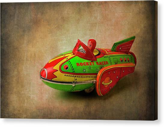 Rocker Canvas Print - Toy Rocker Racer Car by Garry Gay