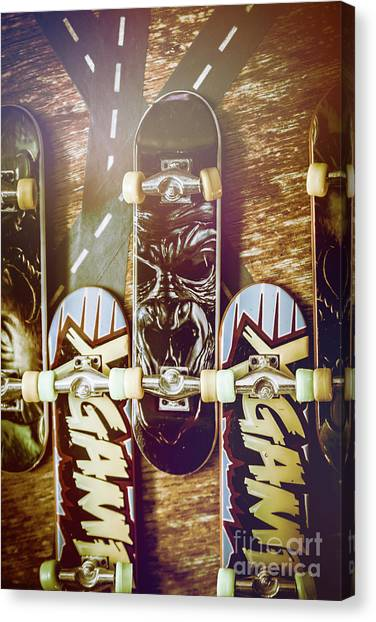 Speed Skating Canvas Print - Toy Skateboards by Jorgo Photography - Wall Art Gallery
