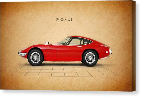 Toyota Canvas Print - Toyota 2000 Gt by Mark Rogan