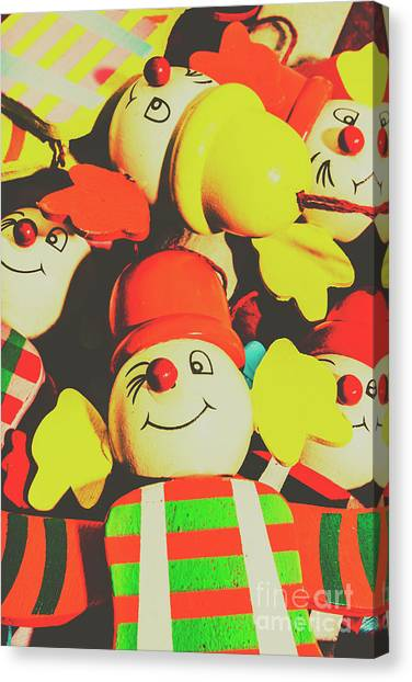Clown Art Canvas Print - Toys From Old Play by Jorgo Photography - Wall Art Gallery
