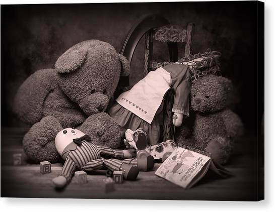 Teddybear Canvas Print - Toys by Tom Mc Nemar