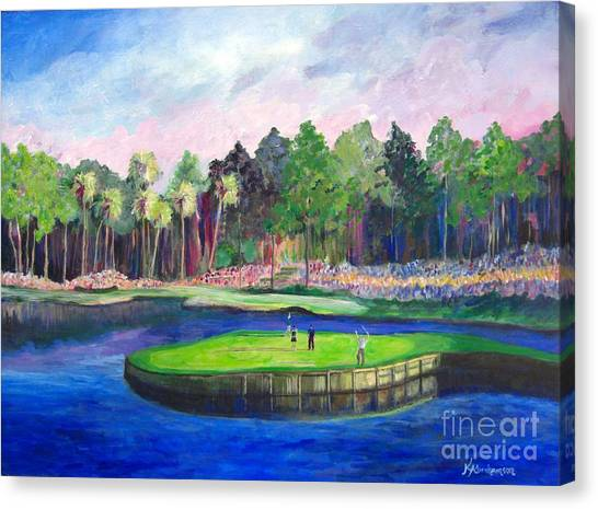Tpc 17th Sawgrass Canvas Print