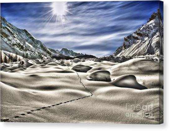Traces Canvas Print by Alessandro Giorgi Art Photography
