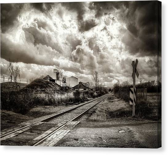 Tracks Into Logan Canvas Print