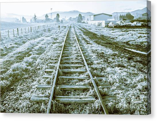 Railroads Canvas Print - Tracks To Travel Tasmania by Jorgo Photography - Wall Art Gallery
