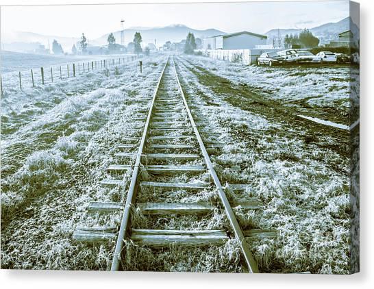 Winter Scenery Canvas Print - Tracks To Travel Tasmania by Jorgo Photography - Wall Art Gallery