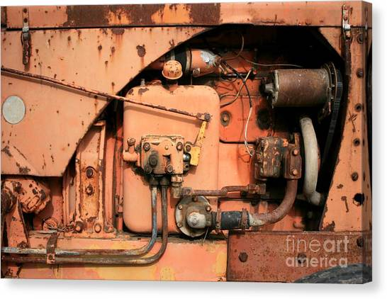 Tractor Engine V Canvas Print