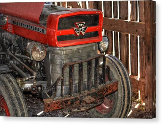 Tractor Grill  Canvas Print