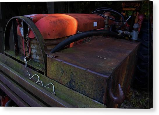 Metal Canvas Print - Tractor by Jerry LoFaro