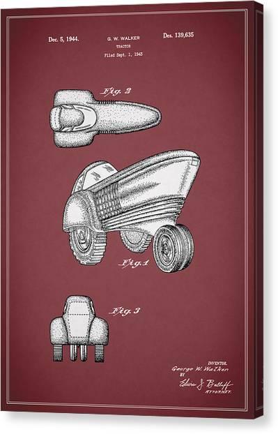 John Deere Canvas Print - Tractor Patent 1944 by Mark Rogan