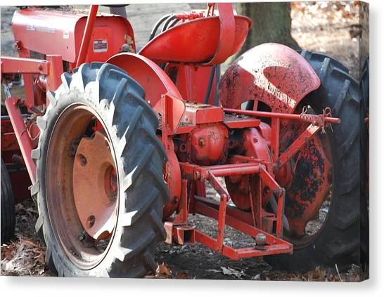Tractor Canvas Print by Peter  McIntosh