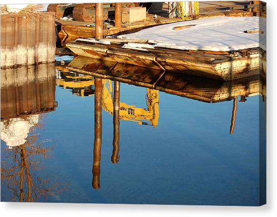 Tractor Reflections Canvas Print by Heather S Huston