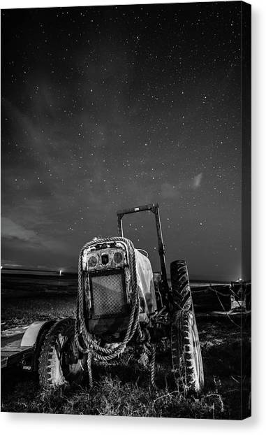 Astro Canvas Print - Tractors At Night  by Mark Mc neill