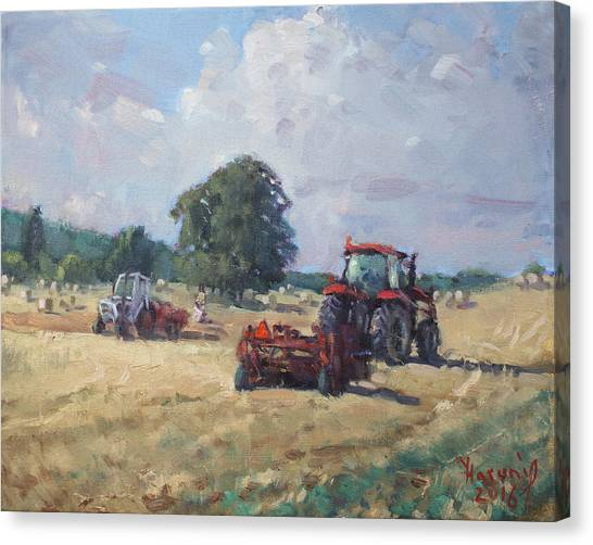 Georgetown University Canvas Print - Tractors In The Farm Georgetown by Ylli Haruni