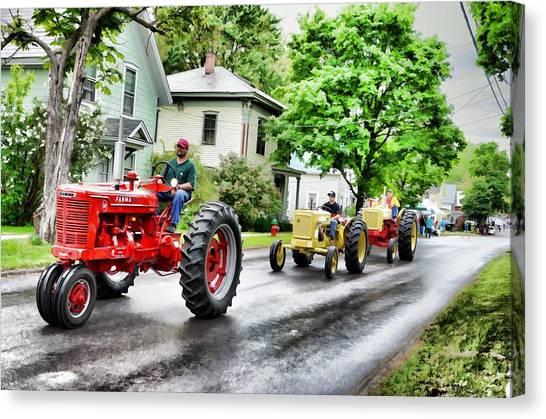 Tractors On Parade Canvas Print