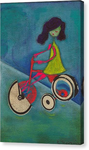 Tracy Cycles Canvas Print by Ricky Sencion