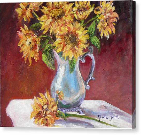 Tracy's Sunflowers Canvas Print
