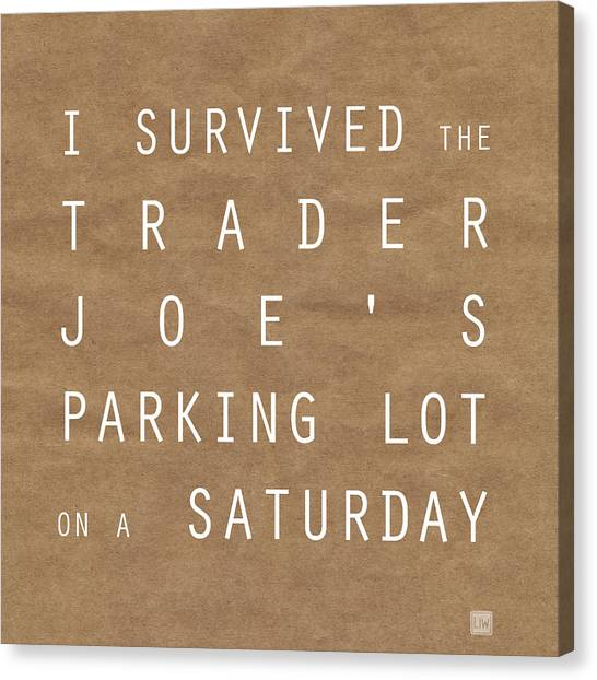 Subway Canvas Print - Trader Joe's Parking Lot by Linda Woods
