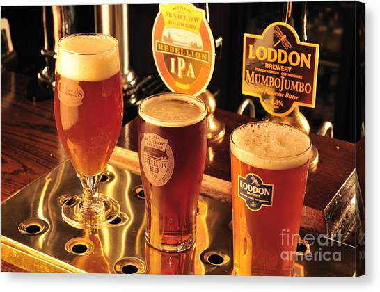 Marlow Canvas Print - Traditional English Beers by Andy Smy