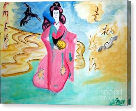 Traditional Geisha Canvas Print