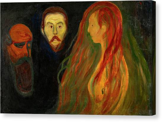 Krakatoa Canvas Print - Tragedy by Edvard Munch