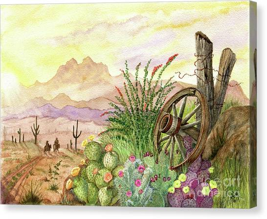 Canvas Print - Trail At Sunrise by Marilyn Smith