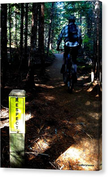 Trail Respect Canvas Print