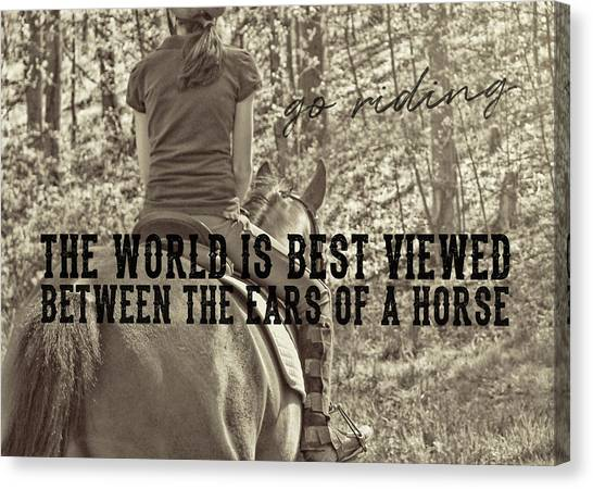 Trail Ride Quote Canvas Print
