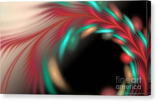 Canvas Print featuring the digital art Trailing Hearts by Sandra Bauser Digital Art