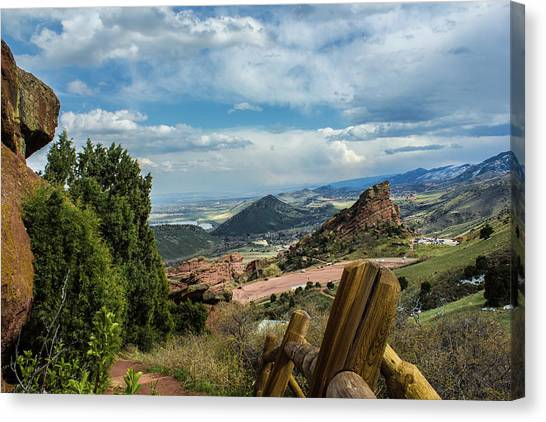 Trails At Red Rocks Canvas Print