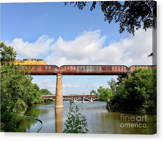 Train Across Lady Bird Lake Canvas Print