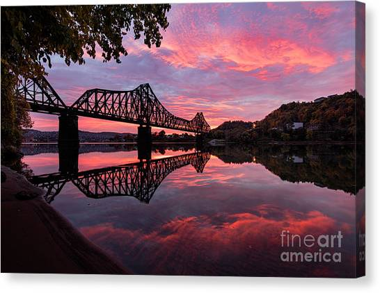 Train Bridge At Sunrise  Canvas Print