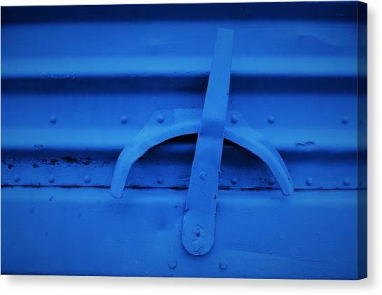Blue Boxcar Bracket  Canvas Print