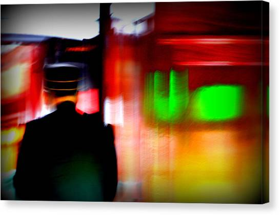 Train Conductor Canvas Print - Train Conductor by Susie Weaver