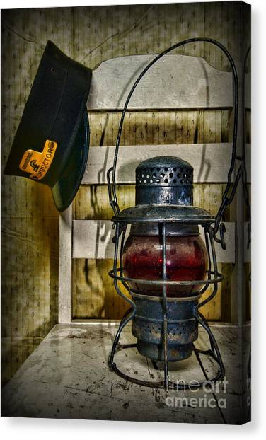Train Conductor Canvas Print - Train Conductor Takes A Break by Paul Ward
