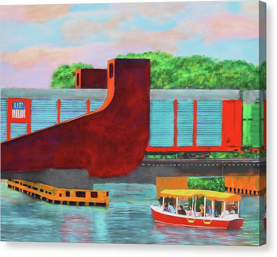 Train Over The New River Canvas Print