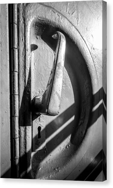 Train Door Handle Canvas Print