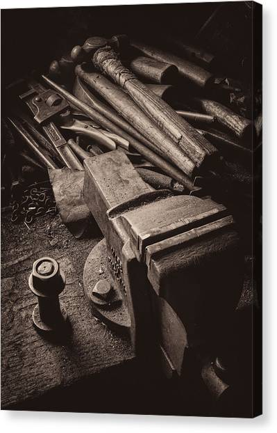 Wrenches Canvas Print - Train Driver's Tools by Dave Bowman